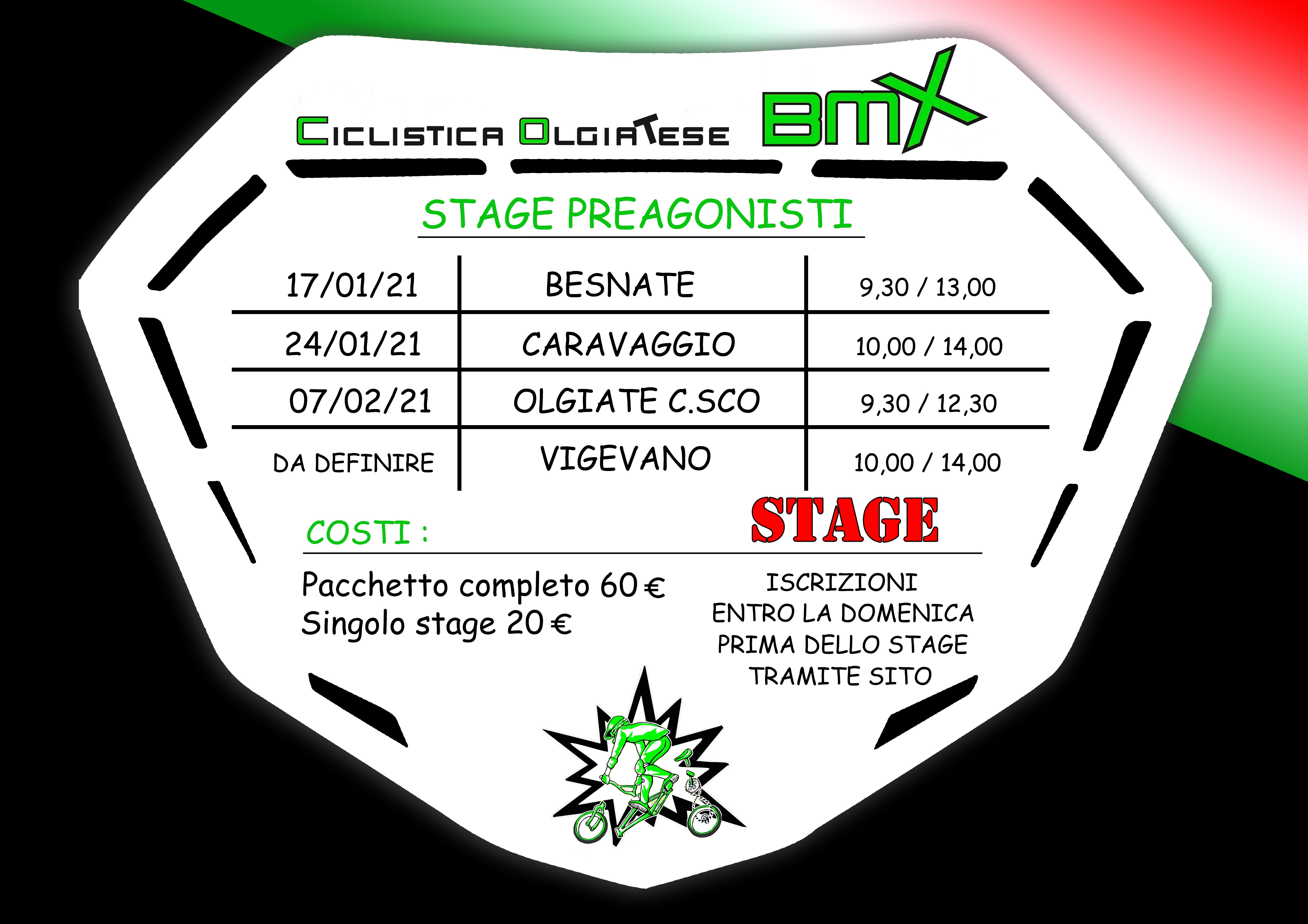 Stage Gruppi Preagonisti